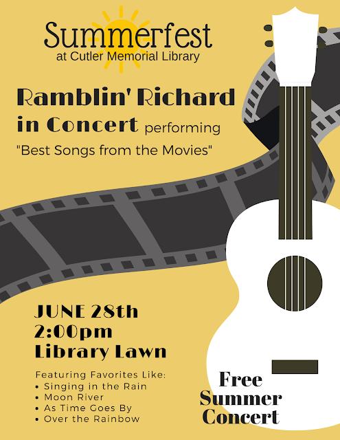 Ramblin' Richard @ the Library! June 28, 2018 @ 2PM