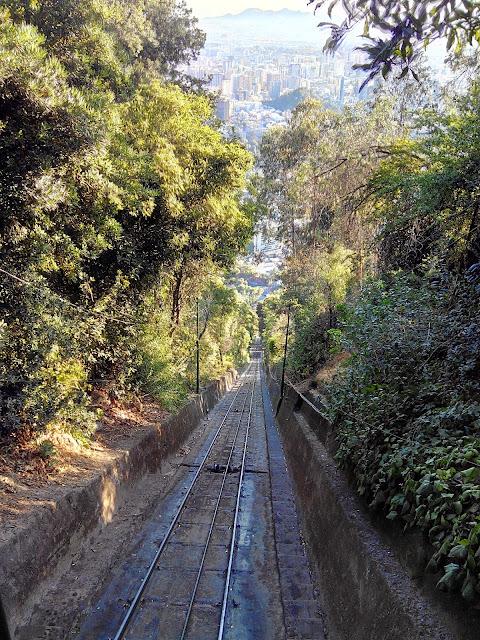 Funicular Cerro San Cristobal, Santiago, Chile