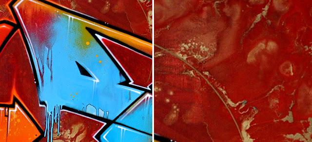 """""""Sans Titre"""" acrylic painting detail"""