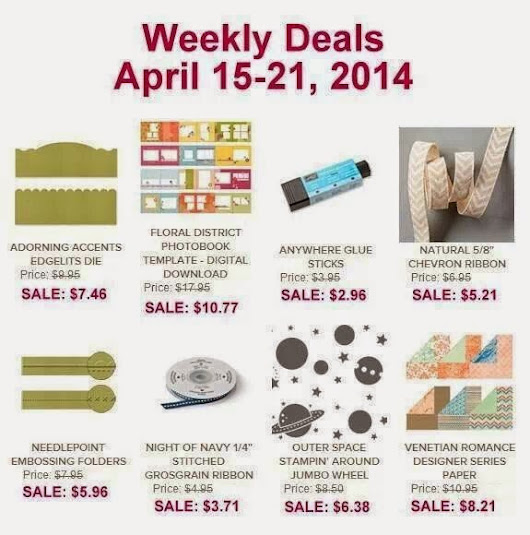 Stampin' Up! Weekly Deals April 15-21