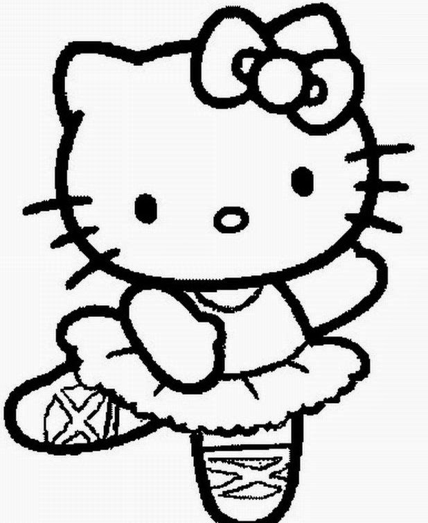 Free Printable Halloween Hello Kitty Coloring Pages