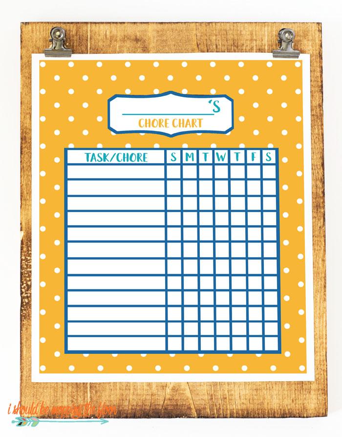 Polka Dotted Chore Chart