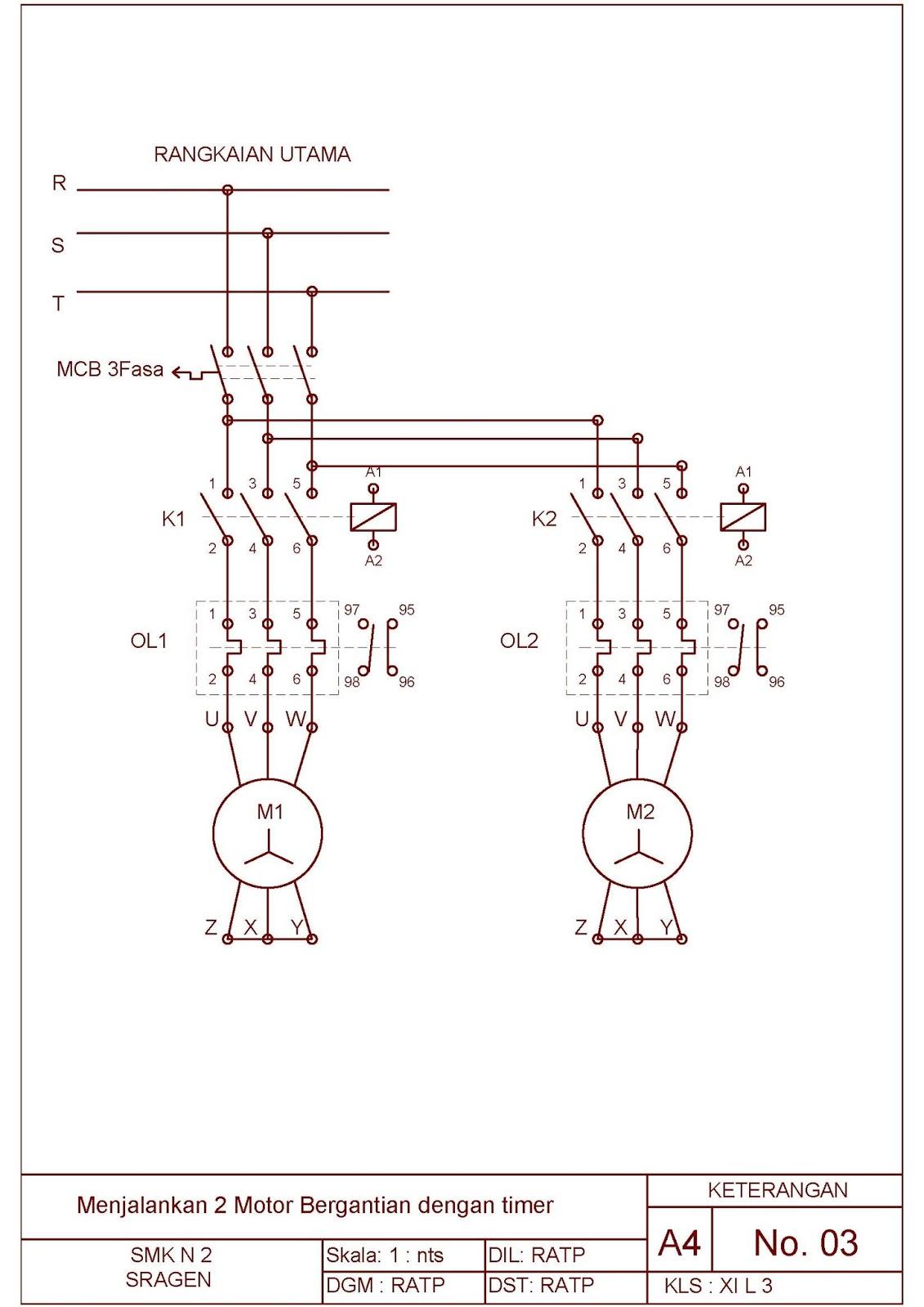 Job Sheet Praktek Instalasi Motor Listrik tema : Menjalankan 2 buah ...