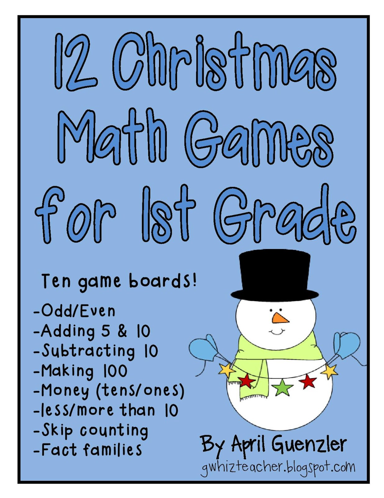 Gwhizteacher Christmas Math Games