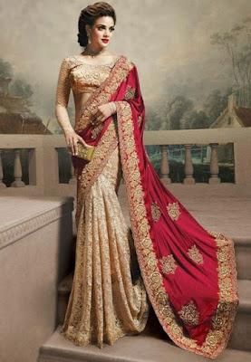 Traditional-indian-banarasi-silk-saree-new-styles-for-girls-5