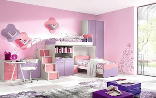 habitacion para jovenes rosa