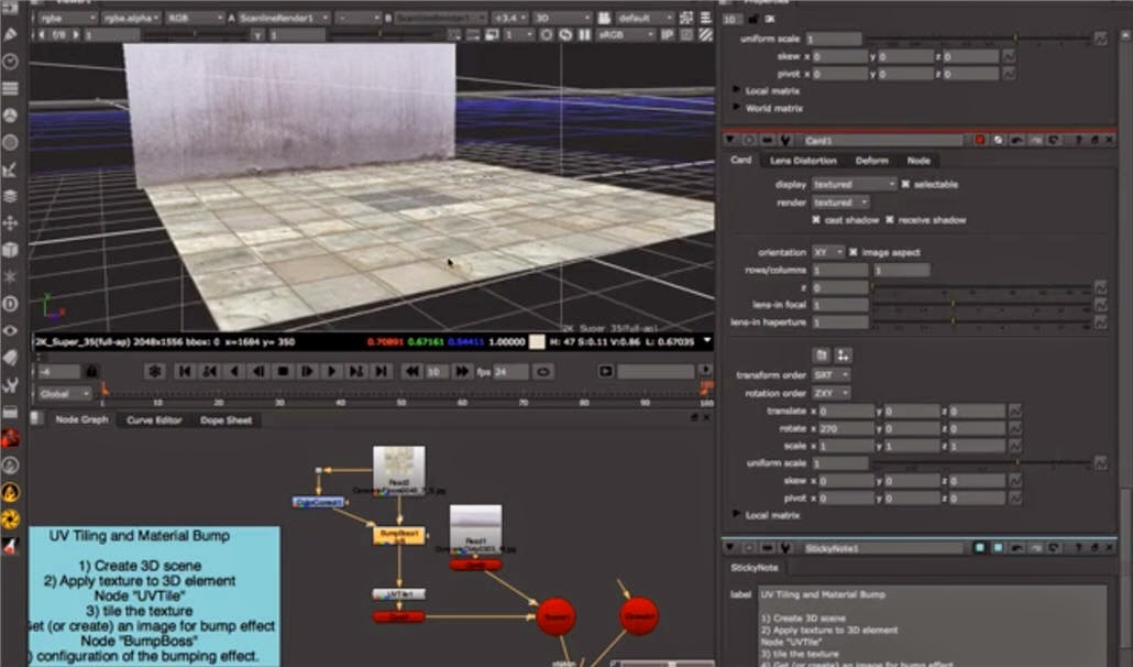 UV Tiling and Bump texture in NUKE   CG TUTORIAL