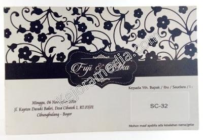 undangan pernikahan hitam putih