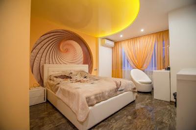 Натяжные потолки Лабинск - варианты желтого