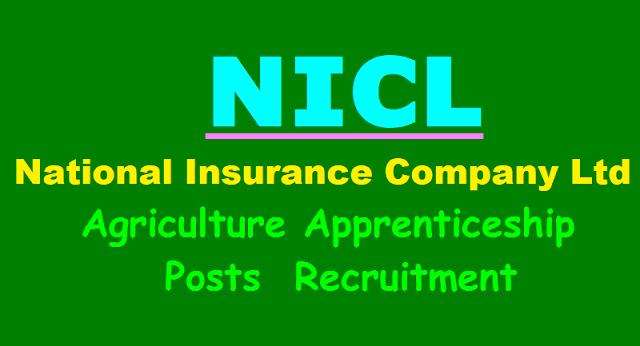 nicl national insurance company limited agriculture apprentices recruitment 2017,nicl agriculture apprentices application form,nicl application last date,selection list results for nicl apprentices