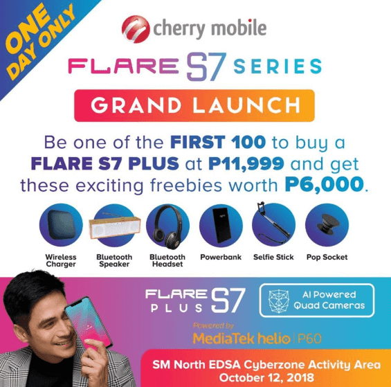 Cherry Mobile Flare S7 Plus with 6k worth of freebies announced