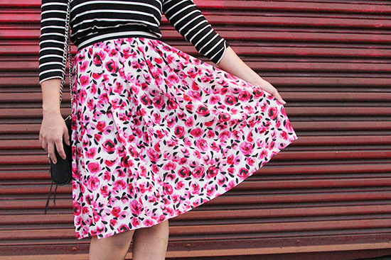 Will Bake for Shoes | Kate Spade New York Rose Print Skirt