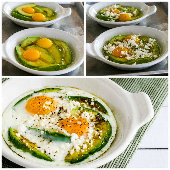 Kalyn's Kitchen®: Low-Carb Baked Eggs With Avocado And Feta