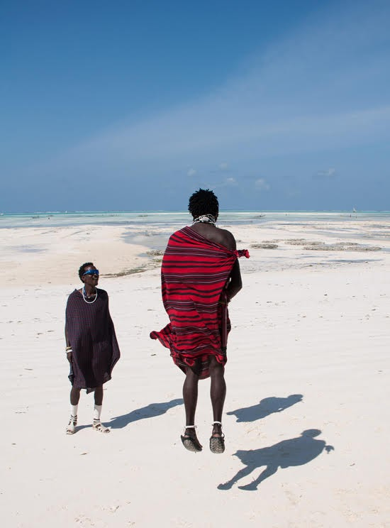 Safari Fusion blog | Jump, jump | Maasai on the beaches of Zanzibar | Photographer Rod Waddington