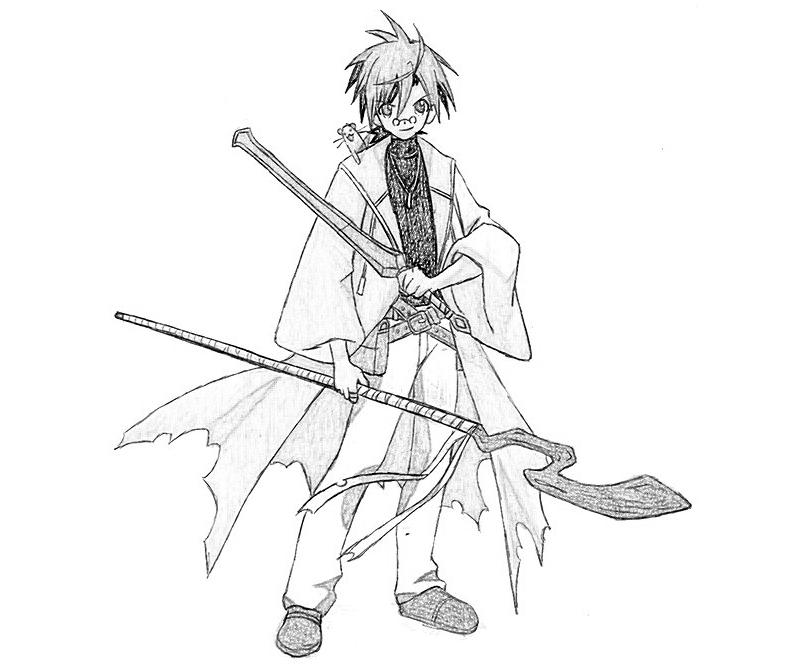 negima anime coloring pages - photo#6