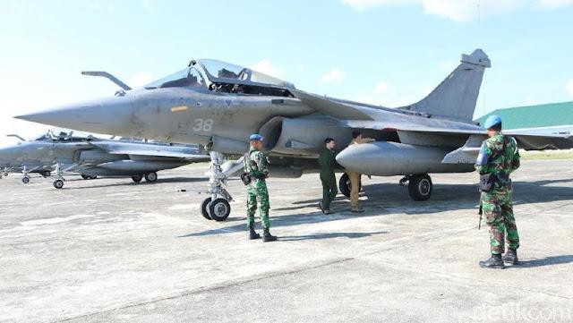 7 Pesawat Tempur Prancis Mendarat di Aceh