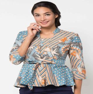 Model Baju Batik Kerja Wanita Bank