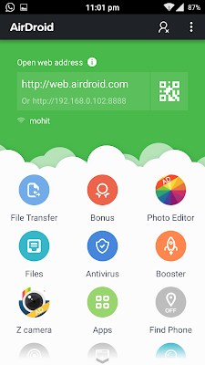 AirDroid - 5 Must have Android Apps