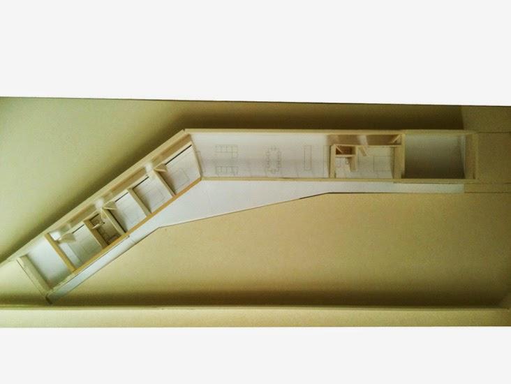 Maqueta de la casa muestra la distribución de espacios en el interior de la casa