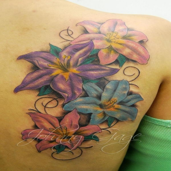 Cool lilies tattoos pictures