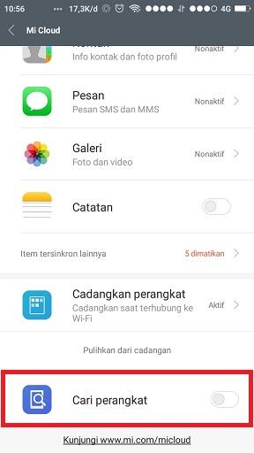 Cara Aktifkan Dan Menonaktikan Fitur Cari Perangkat Pada Hp Xiaomi Ime Android