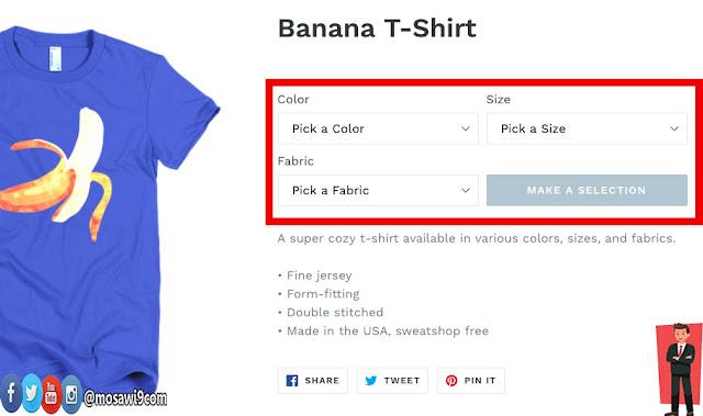 Shopify tshirt