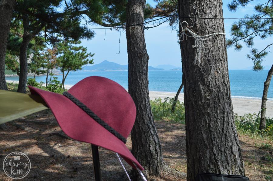 beach camping, namyeol beach, south korea