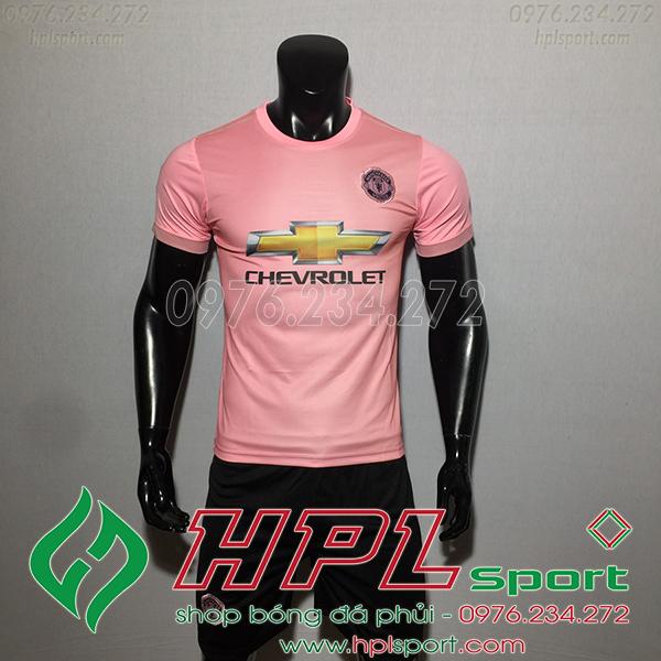 Áo đá bóng câu lạc bộ MU màu hồng