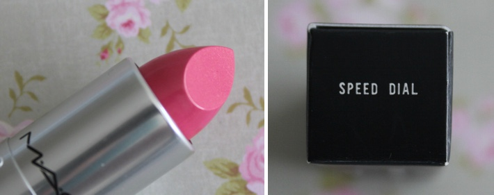 mac speed dial lipstick review