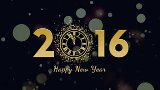 2016 Happy New Year Black Back Ground Images