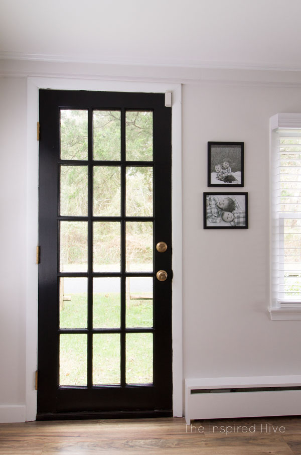 Get modern farmhouse style by painting your doors black!