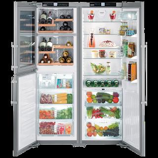 Голям хладилник с две крила от Либхер