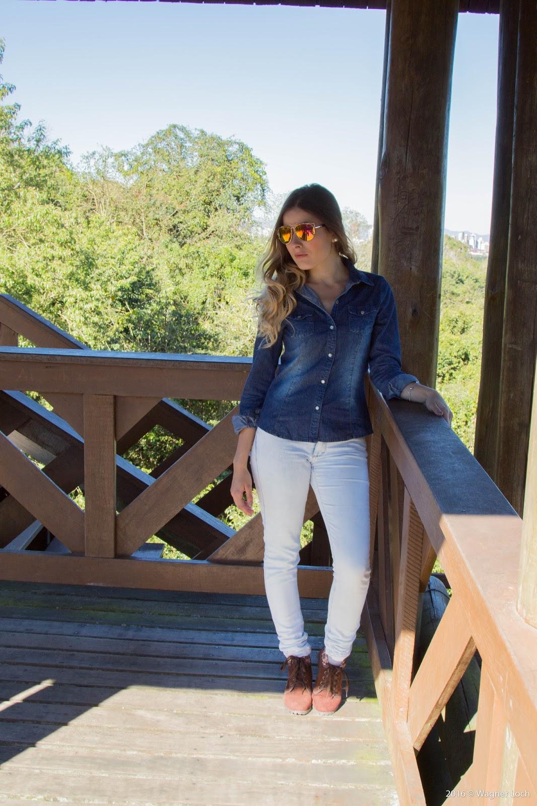 Look jeans com jeans- ally arruda