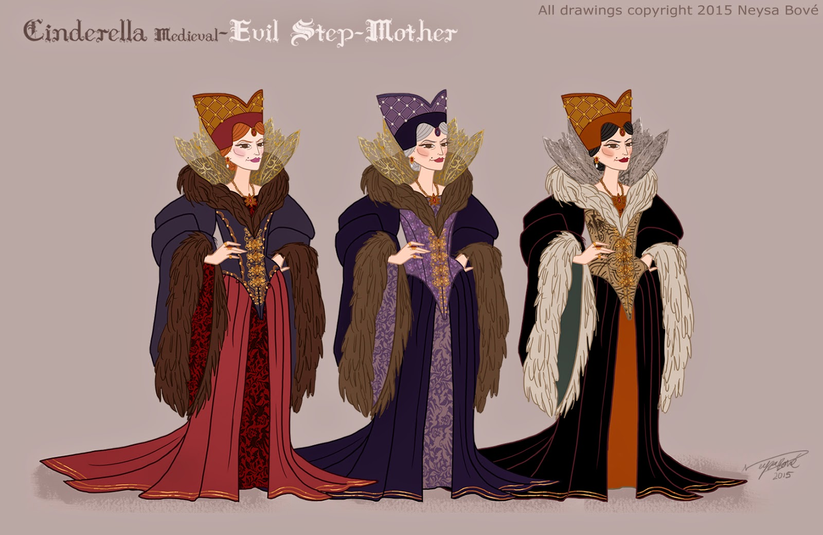 The evil stepmother was pretty fun to design. I wanted to create a costume that clearly showed opulence and presence. The evil stepmother (in my version of ... & Neysa Bové: Cinderella- Designing evil stepmother..