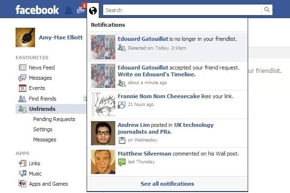 Unfriendly – facebook unfriend notifications.