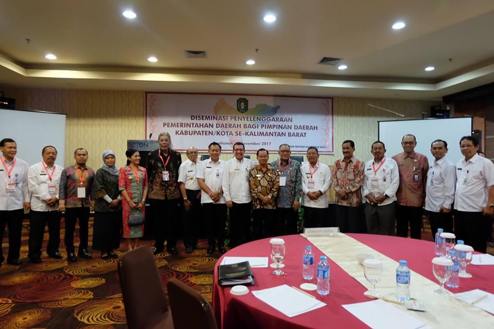 Bupati Rupinus Ikuti Diseminasi Penyelenggaraan Pemerintah Daerah