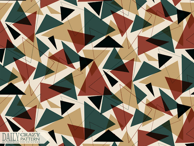 "Chaotic triangles pattern for ""Daily Crazy Pattern"" project"