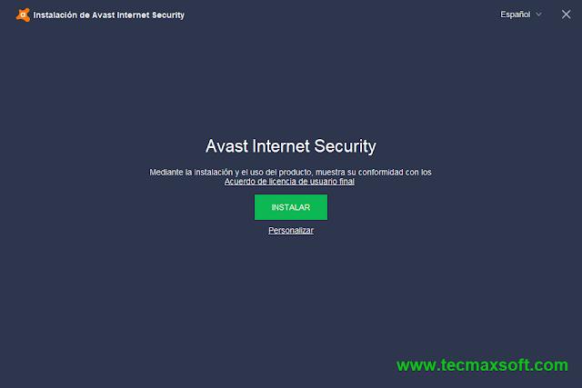 Avast Internet Security 2018 Licencia gratis captura 1