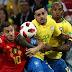 A Bélgica vence Brasil por 2-1, em jogo dos quartos de final