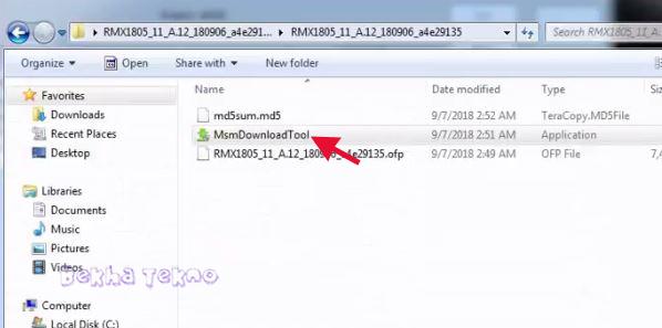 Metode Flashing Cara Bypass Frp Akun Google | Hapus Pola Kunci Layar Oppo Realme 2 RMX1805 Via MsmDownloadTool