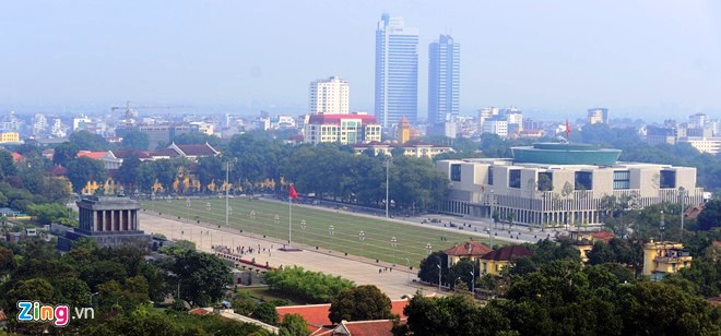 panoramic pictures of Ho Chi Minh Mausoleum