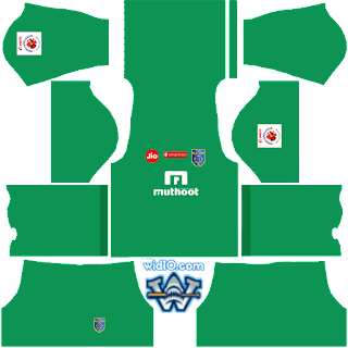 Kerala Blasters FC dls18 Kits ve Logo keeper