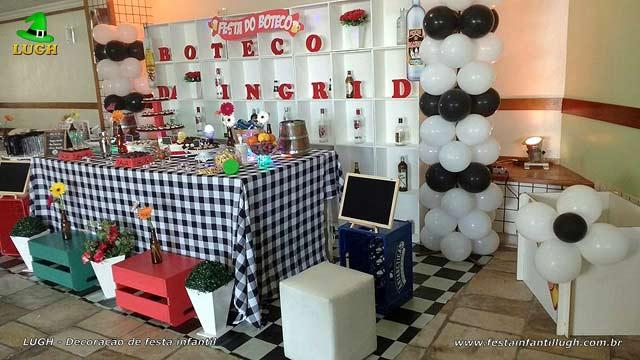 Festa do Boteco - Decoração de mesa tema do Boteco para aniversário de adultos