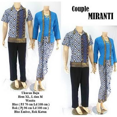 Batik Pasangan Couple Sarimbit Miranti