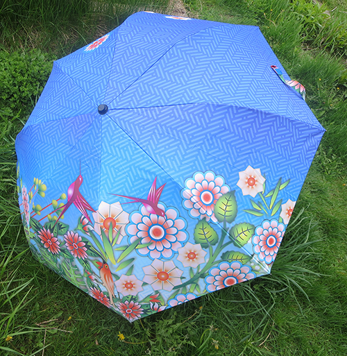 Celebrate Mother's Day with Hallmark #LoveHallmarkCA Catalina Estrada Hummingbird Haven Umbrella