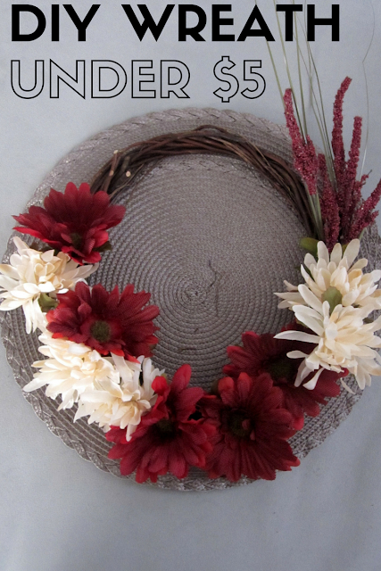 Final result of making my own floral wreath for under $5