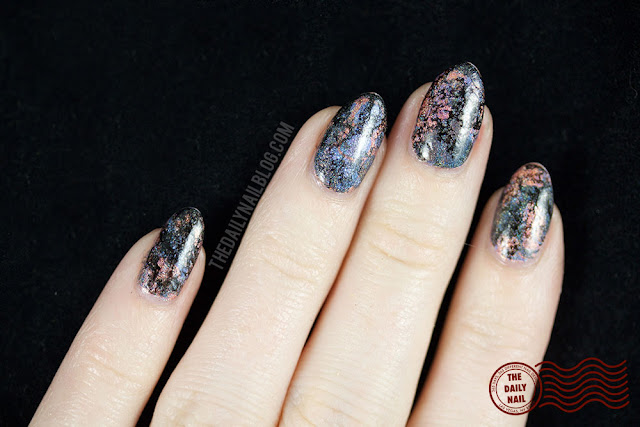 holo, the daily nail, water marble, color club, halo hues