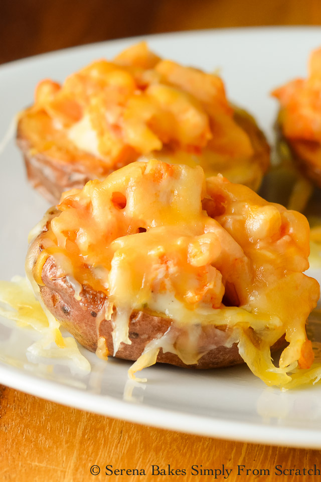 5 Loaded Mini Potato Recipes- Cheesy Buffalo Ranch