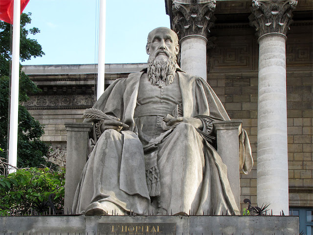 Michel de L'Hospital by Louis Pierre Deseine, Palais Bourbon, Paris