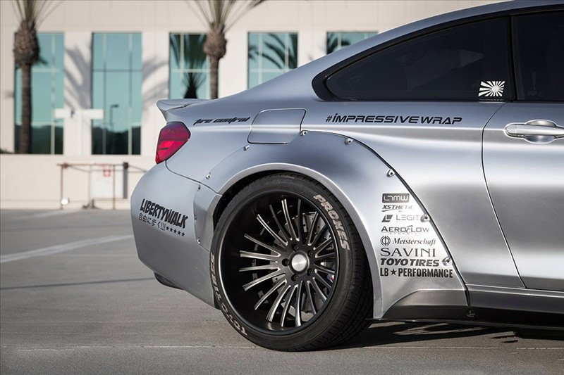 LB Performance BMW F82 M4 The spoiler on the trunk lid Liberty Walk 03